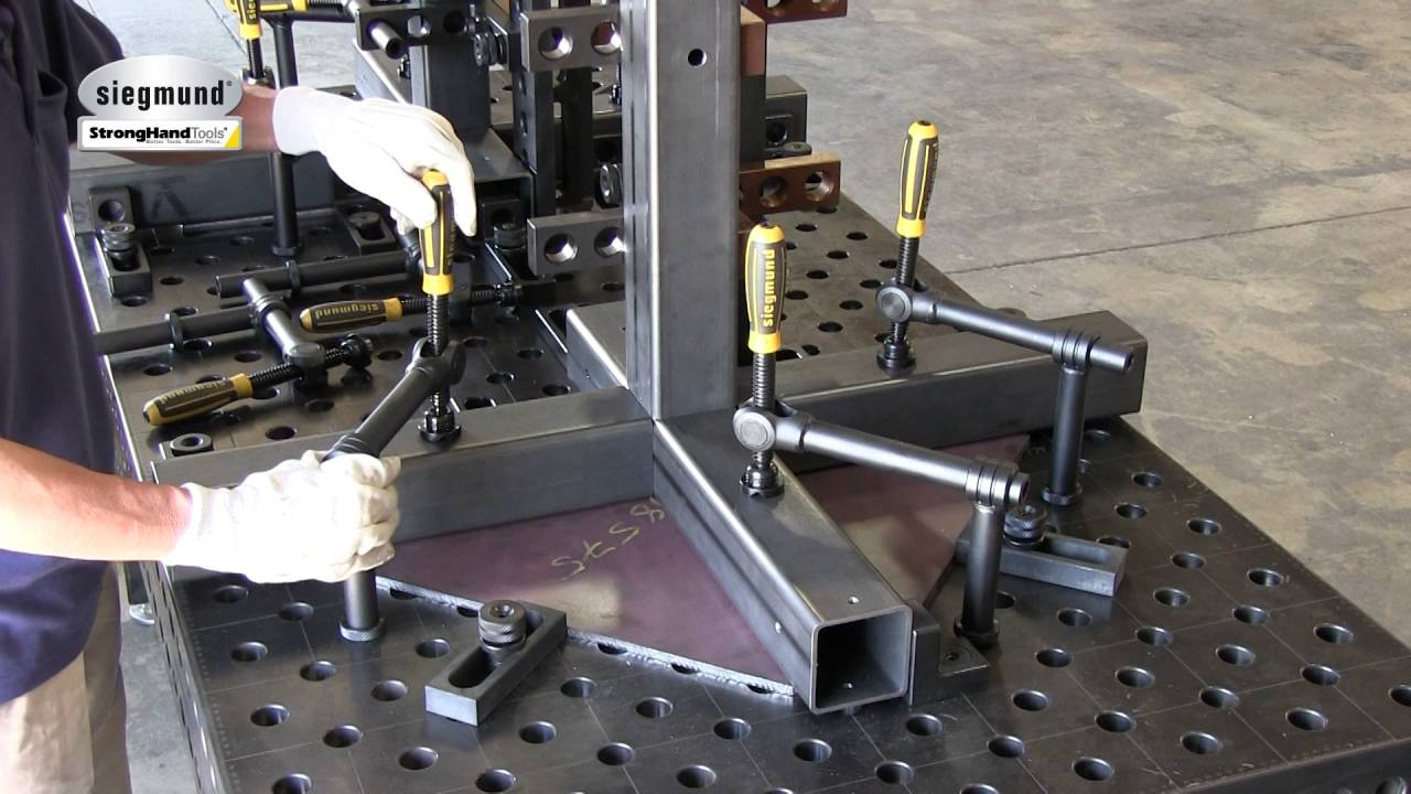 Fixturing A Heavy Duty Leg Stand On The Siegmund Table