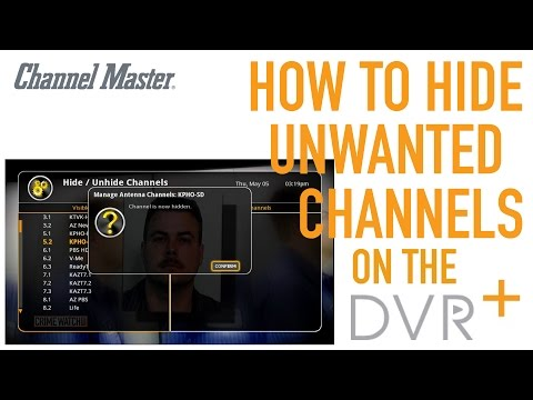 Channel Master DVR+ | How To Hide Unwanted Channels
