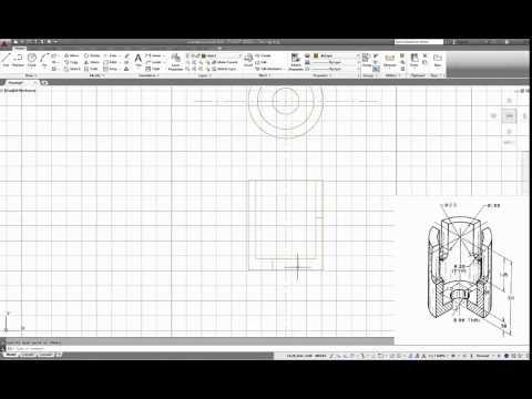 วิธีการเขียนแบบผ่า Section ในภาพorthographic ด้วยโปรแกรม