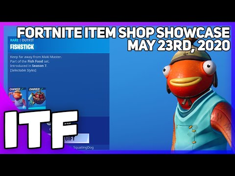 Fortnite Item Shop *NEW* FRESH FISH PICKAXE + FISHSTICK IS BACK! [May 23rd, 2020]