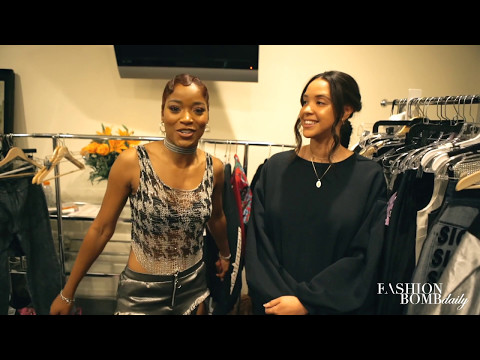 Fashion Bomb Daily Behind the Scenes of Keke's Video Wind Up Feat Quavo Interview by Deonte Nash