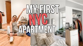 NYC MOVE IN VLOG: empty apartment tour + decorating my nyc apartment