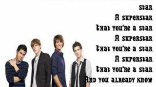 Big Time Rush- Superstar Lyrics (FULL)