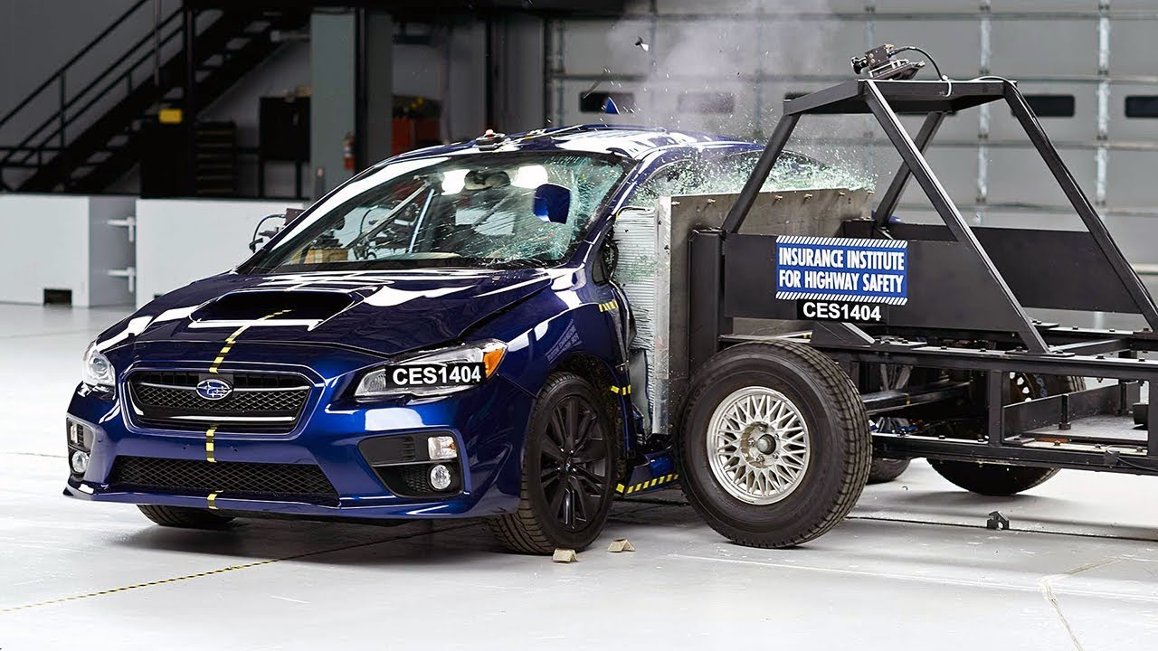 2015 Subaru Wrx Side Iihs Crash Test Youtube