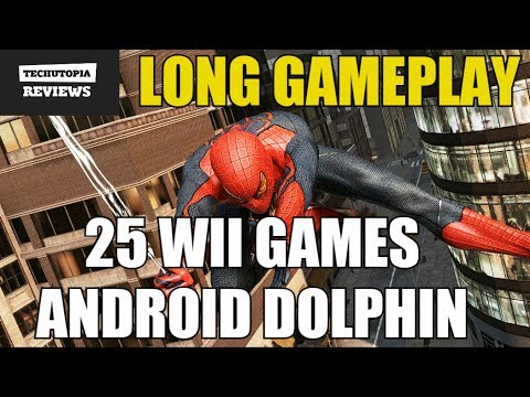 25 Wii Games On Android Smartphone Dolphin 5.0 Emulator GC/Wii Console/2017 Video