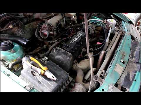 Замена двигателя 1часть Daewoo Nexia 1,5 Дэу Нексия 2001 года