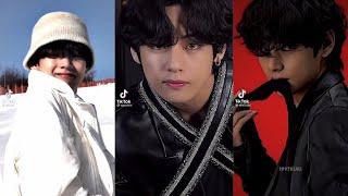 V BTS (Kim Taehyung) #43 Tiktok Compilation Part 3   Tiktok Edit   Real Size