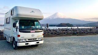 日本一周女ひとり旅258日目。河口湖の富士山Live