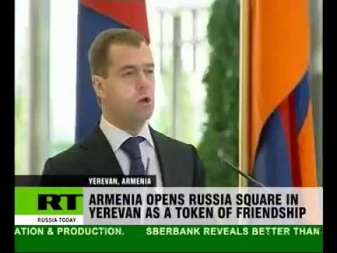 Square of Russia unveiled in Armenian capital