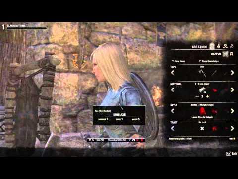 elder scrolls online blacksmithing guide