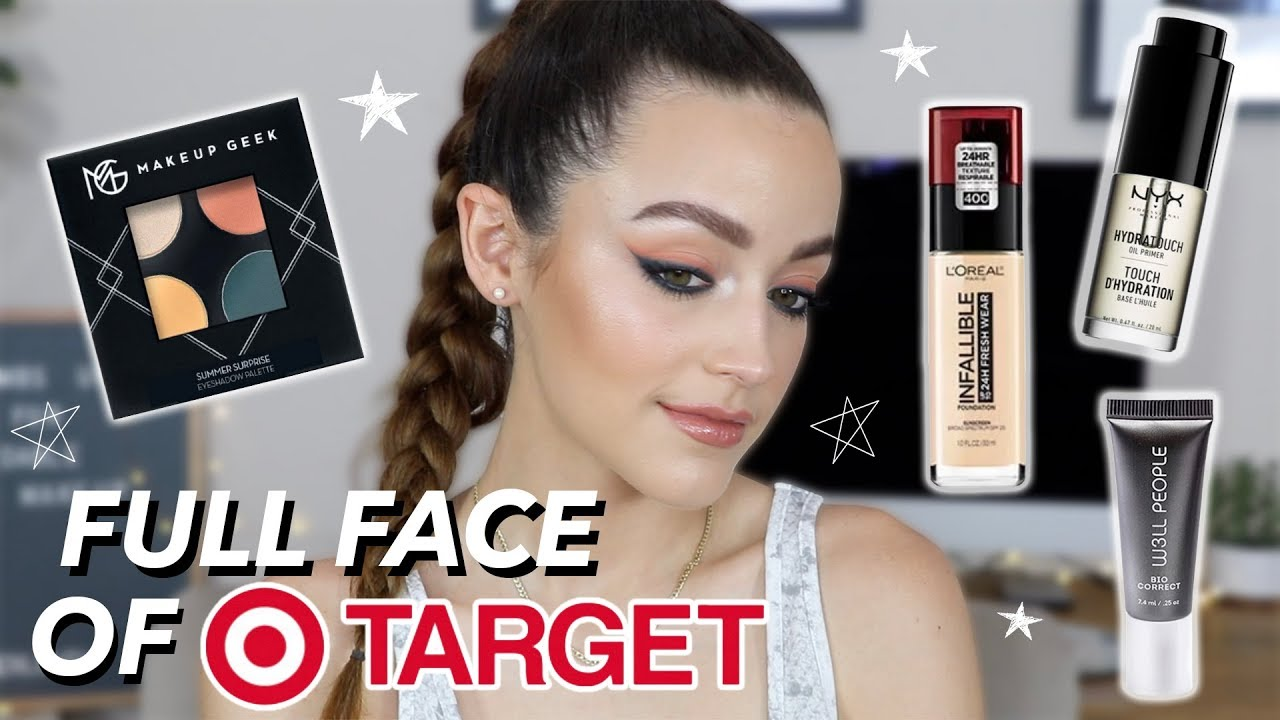2c941f65b6f FULL FACE OF DRUGSTORE MAKEUP FROM TARGET - YouTube