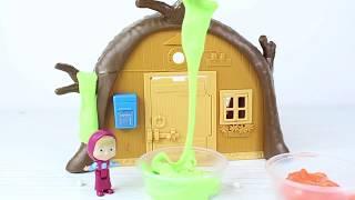 Koca Ayı'nın Evine Ne Oldu? Maşa Slime ile Oynuyor Maşa Yeni Bölüm Çizgi Film Türkçe