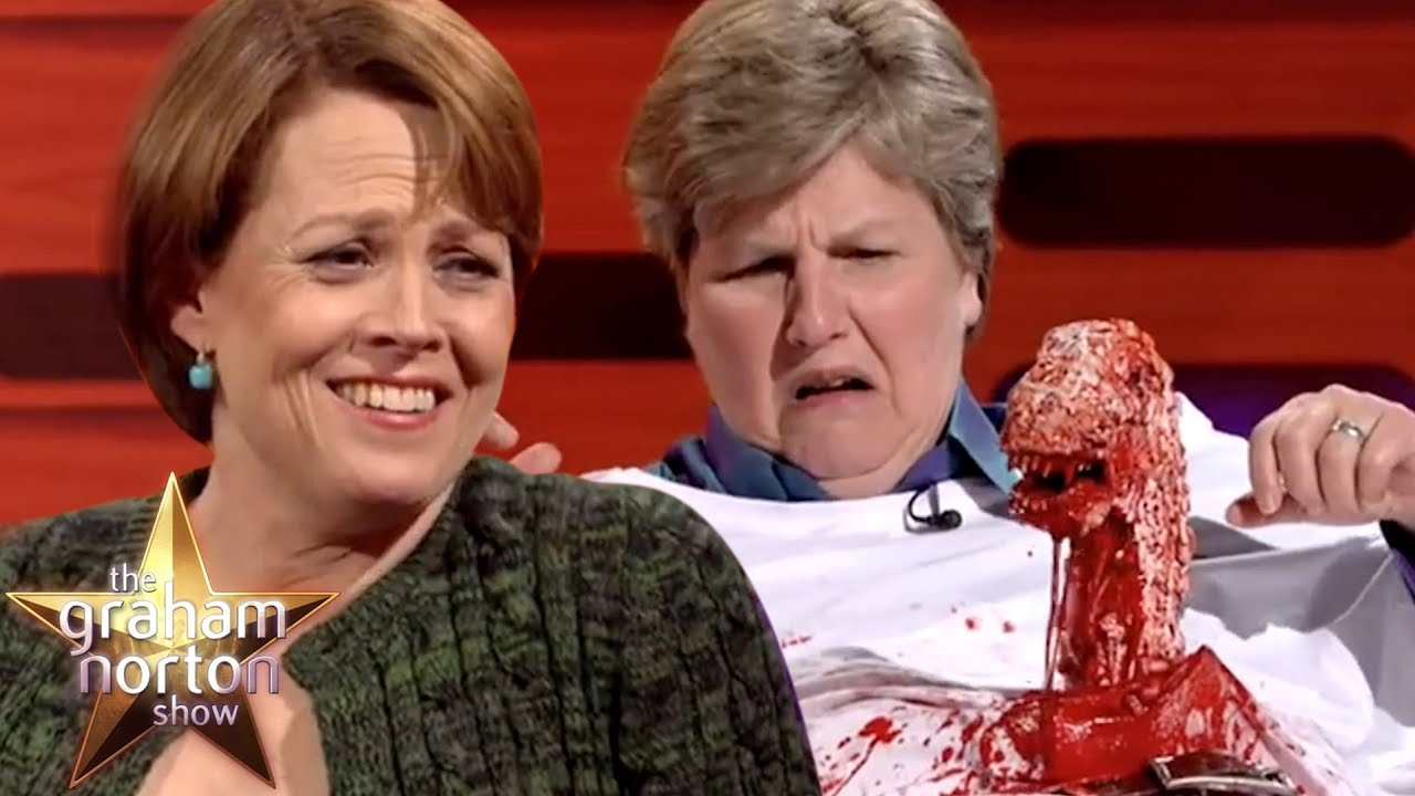 Download Sigourney Weaver Helps Recreate The Iconic Alien Moment | The Graham Norton Show