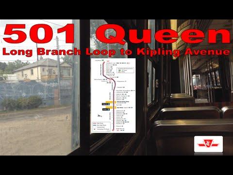 501 Queen - TTC UTDC/Can-Car Rail ALRV L-3 4241 (Long Branch Loop to Kipling Avenue)