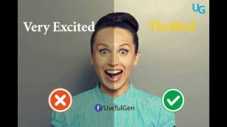 13 ENGLISH WORDS TO USE INSTEAD OF VERY.. Learn English