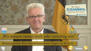 Vergangene woche hat sich ministerpräsident winfried kretschmann mit seinem podcast direkt an die kinder in baden-württemberg gerichtet. er sie aufgeford...