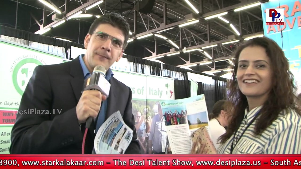 Representative of 'Great Tours of Italy' speaks to DesiplazaTV at Travel & Adventure Show in Dallas