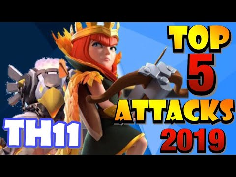 TOP 5 BEST TH11 War Attack Strategies In 2019 In Clash Of Clans!