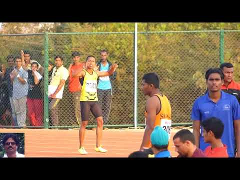 MENS 100M FINAL. ALL INDIA INTER-UNIVERSITY ATHLETICS CHAMPIONSHIPS.  2014-15