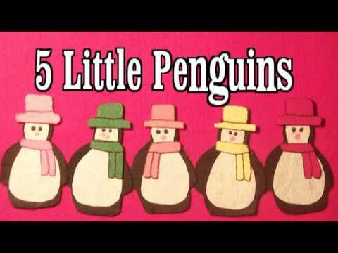Winter Preschool Songs  5 Little Penguins song  Littlestorybug