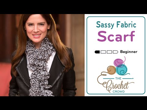How To Knit A Scarf With Sassy Fabrics By Red Heart Youtube