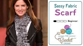 Repeat youtube video How to Knit a Scarf: with Sassy Fabrics by Red Heart