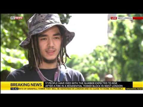 Grenfell Tower Fire: Piki Seku, who swore on BBC News, interviewed on Sky News