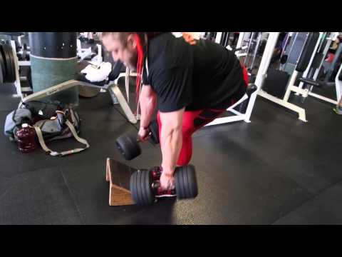 Modified Romanian DB Deadlifts - on Incline