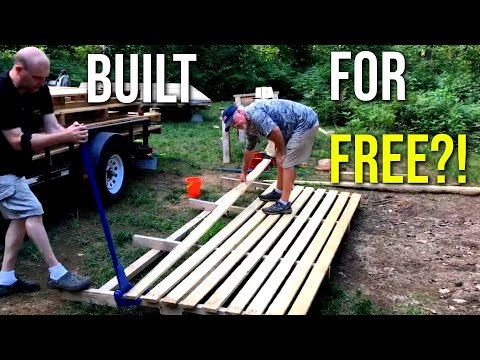 hunting-cabin-built-with-free-pallet-wood-pt.1---|-mini-cabin-|-pallet-shed-|