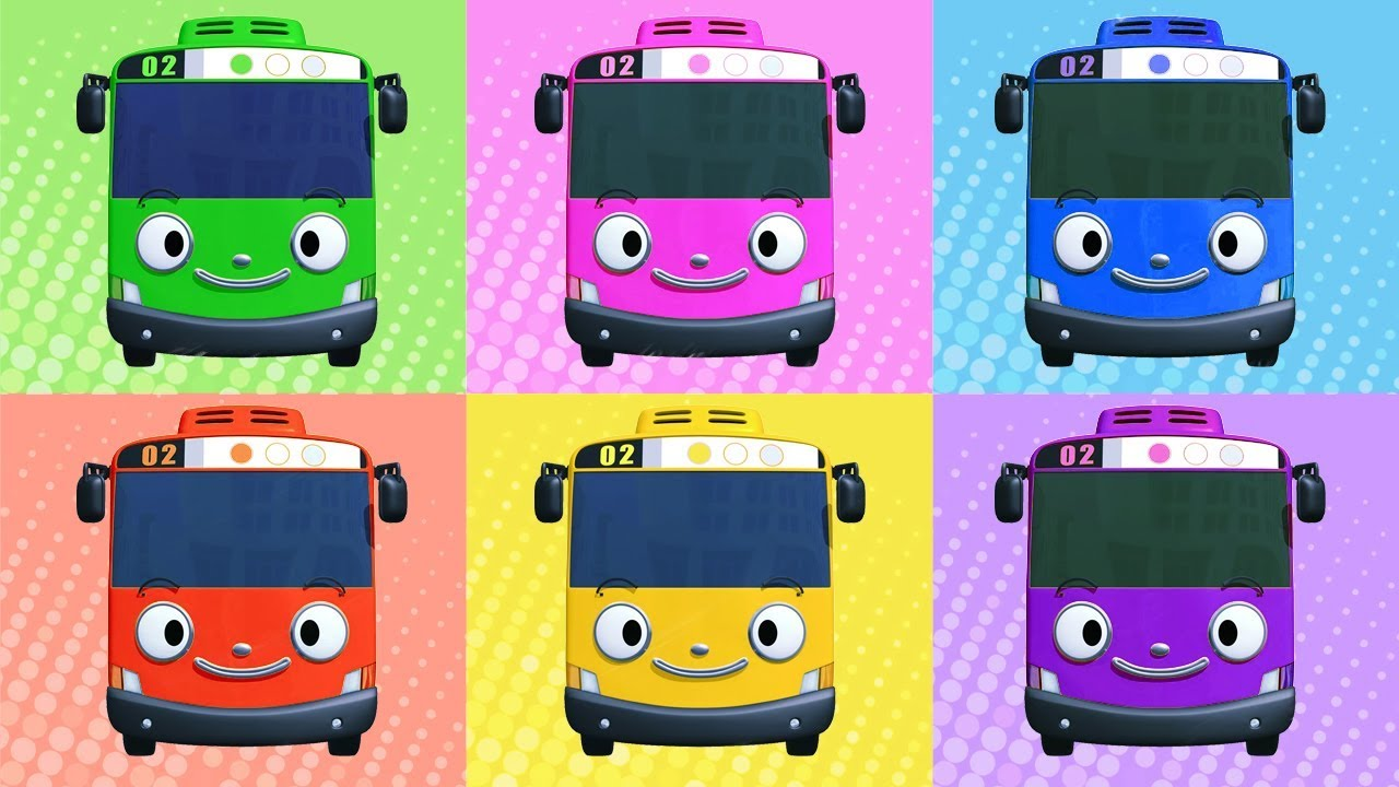 Belajar Mewarnai Tayo The Little Bus Learn Colors Youtube