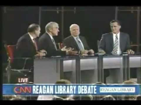 Ron Paul BEST answer at California Debate!!