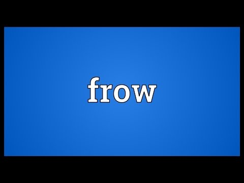 Frow Meaning