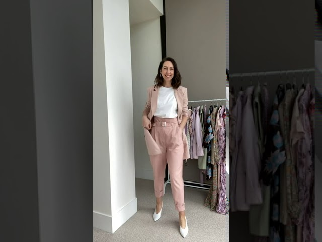 Blush Suit Styling