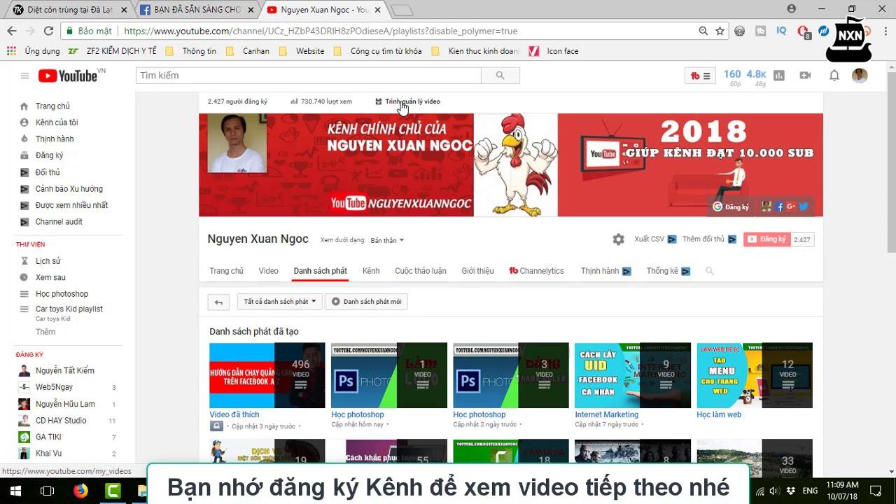 Youtube 2018 | Hướng dẫn xóa 1 danh sách phát trong kênh youtube