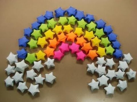 Paper stars origami stars tutorial youtube for How to make paper things easy step by step