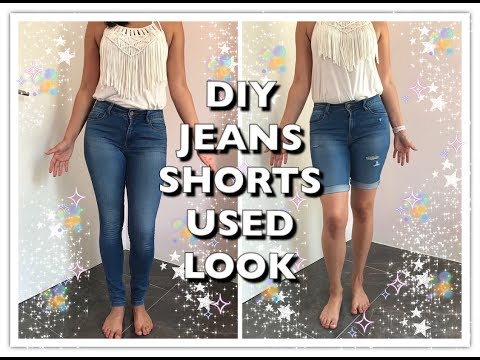 Diy Jeans Shorts Used Look Upcycling Deutsch Youtube