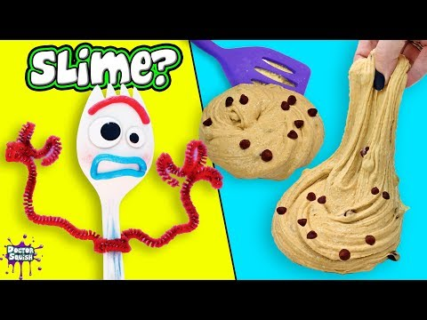 SLIME Baking With Forky! Chocolate Chip Cookie Slime!