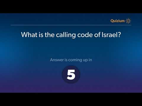 What Is The Calling Code Of Israel?   Israel Quiz
