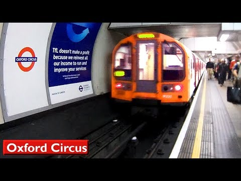London Underground: Oxford Circus | Central line (1992 Tube Stock)
