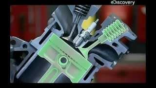 видео Принцип работы четырех тактного двигателя внутреннего сгорания