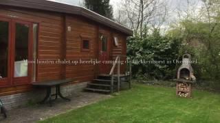 Leuk houten chalet op camping de Blekkenhorst in Overijssel