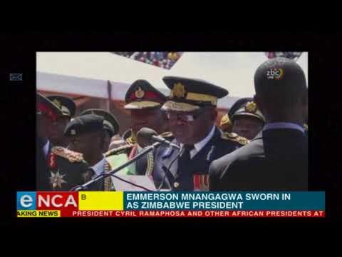 Emmerson Mnangagwa is sworn in as Zimbabwe's president