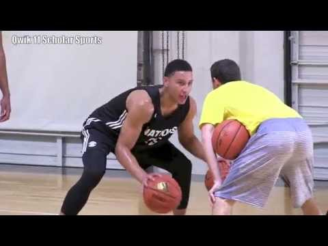 Ben Simmons First day at Adidas Nations 2015 with other college players!