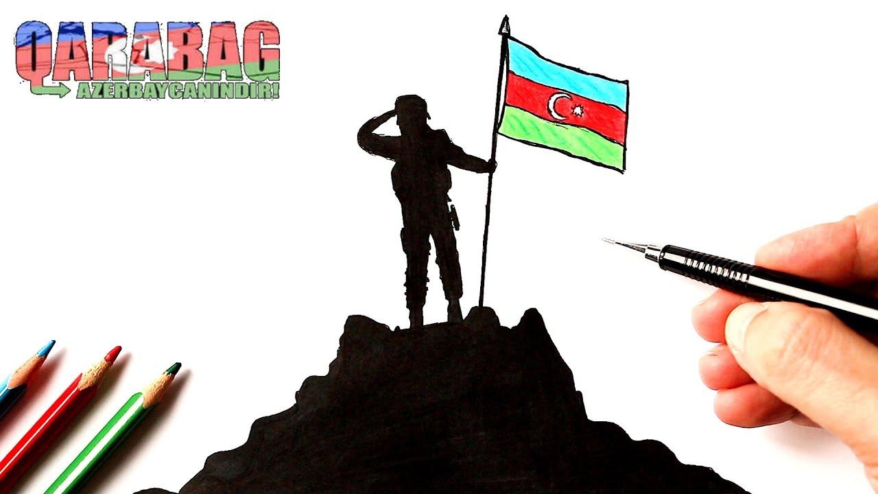 Azerbaycan askeri nasıl çizilir   Karabağ Azerbaycan'dır!
