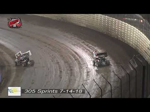 Knoxville Raceway 305 Highlights - July 14, 2018