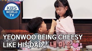 Yeonwoo being cheesy like this dad [The Return of Superman/2020.02.16]