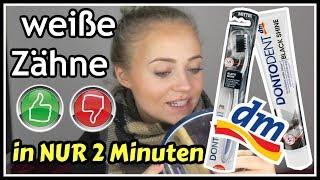 WEIßE ZÄHNE in 2 Minuten ||TOP o. FLOP!? ||LIVE TEST | Blond_Beautyy