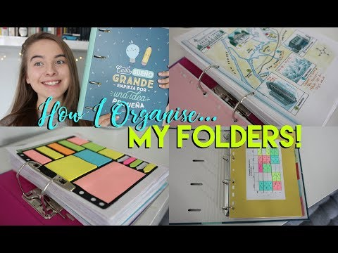 How I Organise my Notes and Folders for School 2017!