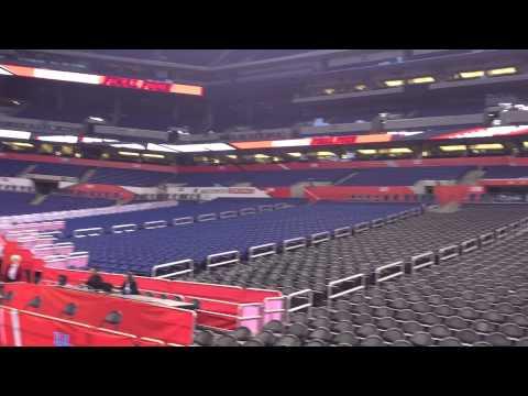 An empty Lucas Oil Stadium 360 view from court before 2015 Final Four.