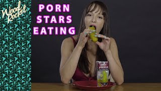 Porn Stars Eating: Lexi Luna Eats a Hot Pickle